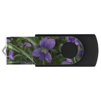 Clé USB Commande d'USB de violettes, métal