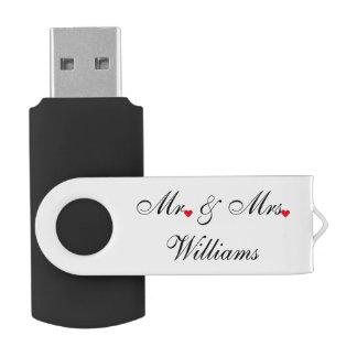 Clé USB Commande faite sur commande d'instantané de M. Mme