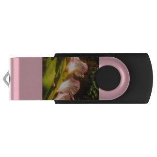 Clé USB Commande jaune fleurissante rose d'instantané