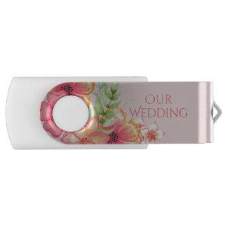 Clé USB Commande l'épousant florale assez rose