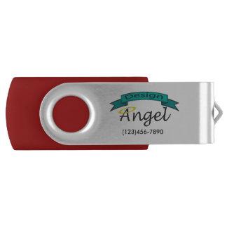 Clé USB Commande marquée par logo de Silver Custom Company