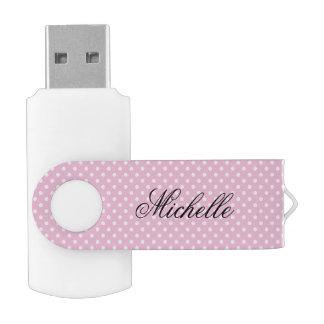 Clé USB Commande rose d'instantané d'USB de pivot de motif