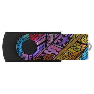 Clé USB Conception africaine colorée