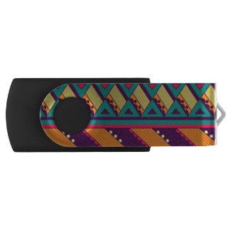 Clé USB Conception africaine de couleur multi
