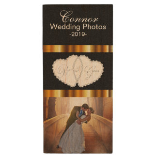 Clé USB Conception de photo de mariage de jeunes mariés de