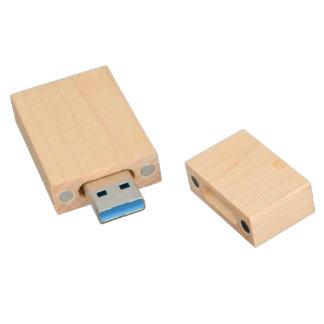 Clé USB Concevez la commande en bois d'USB de cas