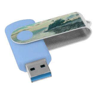 Clé USB Coucher du soleil de plage de Boca Chica consacré