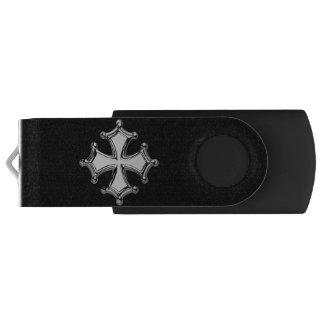 Clé USB Croix occitane noir et blanc