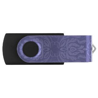 Clé USB Damassé florale de lavande élégante