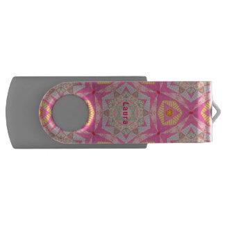 Clé USB ~ de Laura personnalisé par ~ rose de motif de