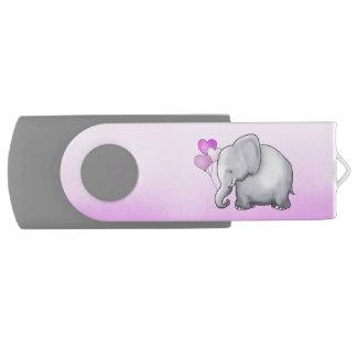Clé USB Douche mignonne de bébé de rose d'éléphant de