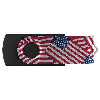 Clé USB Drapeau américain dans le chevauchement