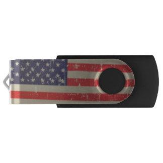Clé USB Drapeau américain patiné et affligé des Etats-Unis