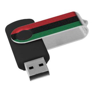 Clé USB Drapeau rouge, noir et vert