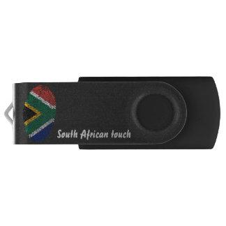 Clé USB Drapeau sud-africain d'empreinte digitale de