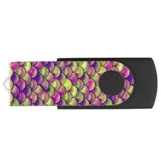 Clé USB Échelles pourpres et vertes de Falln