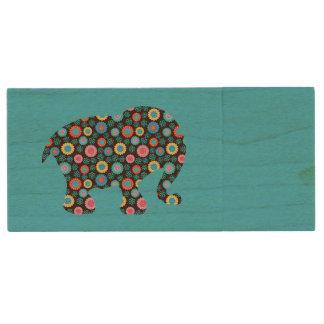 Clé USB Éléphant de fleur