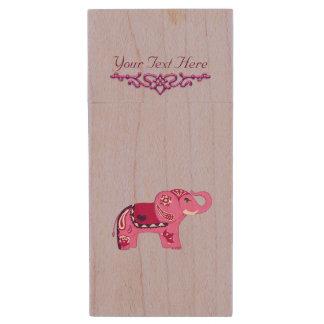Clé USB Éléphant de henné (rose/pourpre)