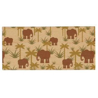 Clé USB Éléphants et paumes dans le camouflage