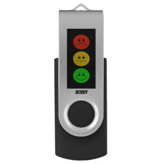 Clé USB Feu d'arrêt déprimé personnalisable avec le nom