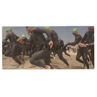 Clé USB HAMbWG - triathlon - commande instantanée en bois