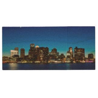 Clé USB Horizon de Boston avec la lune