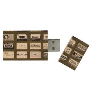 Clé USB illustration vintage d'enregistreurs à cassettes