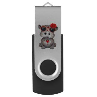 Clé USB Jour rouge de l'hippopotame mort de bébé