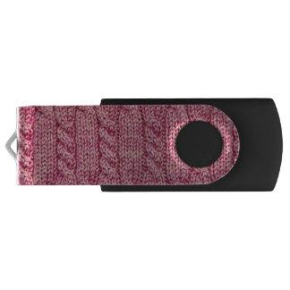 Clé USB Knit câblé par fil rose