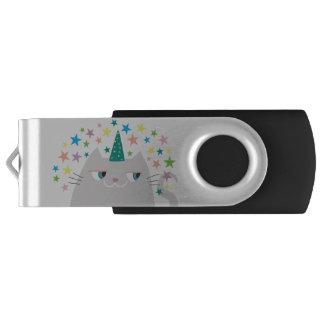 Clé USB La licorne Caticorn de chat tient le premier rôle