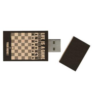 Clé USB La vie est un jeu, échecs est sérieuse