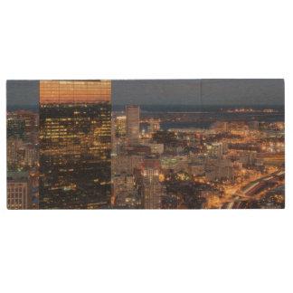 Clé USB Le bâtiment de Boston avec la lumière traîne sur