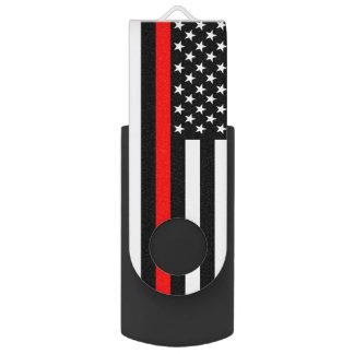 Clé USB Les Etats-Unis marquent la ligne rouge mince thème