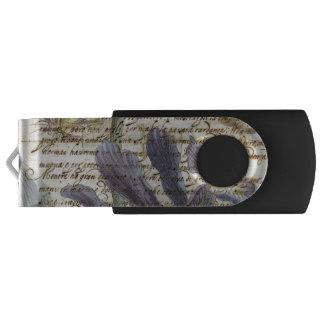 Clé USB Lettre vintage florale