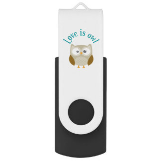 "Clé usb ""Love is owl"""
