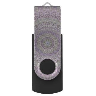 Clé USB Mandala floral en pastel de cercle