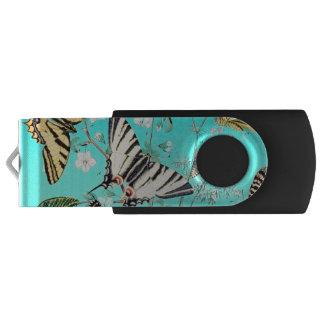 Clé USB Mélange bleu de papillon