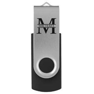 Clé USB Monogramme et nom personnalisés