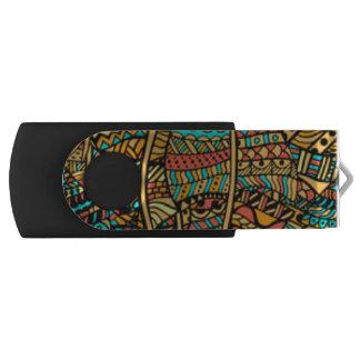 Clé USB Motif africain de couleur multi