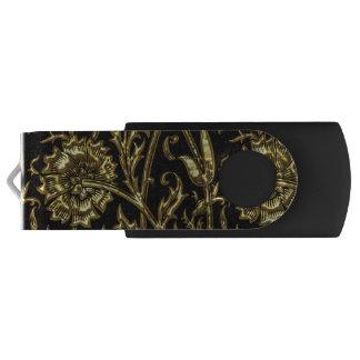 Clé USB Motif coloré par or sur le noir