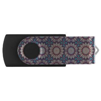 Clé USB Motif floral ethnique abstrait coloré de mandala