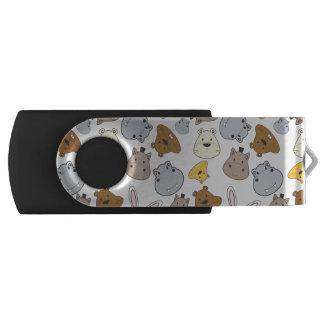 Clé USB Motif mignon de portrait d'animaux de bande