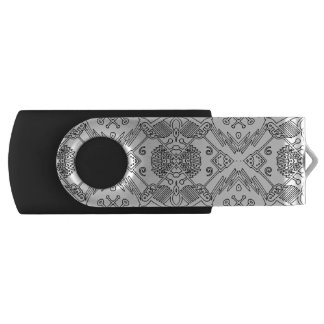 Clé usb motif pop black and white