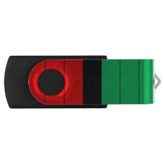 Clé USB Motif rayé vert noir rouge de Kwanzaa Kinara