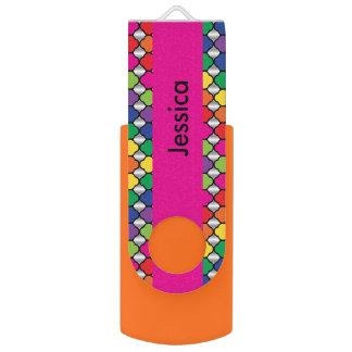 Clé USB Nom coloré du motif | do-it-yourself de Quatrefoil