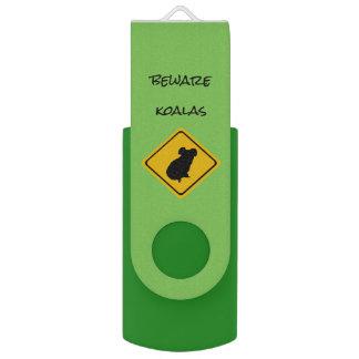 Clé USB panneau routier de koala - USB flashdrive