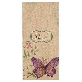 Clé USB Papillon vintage floral