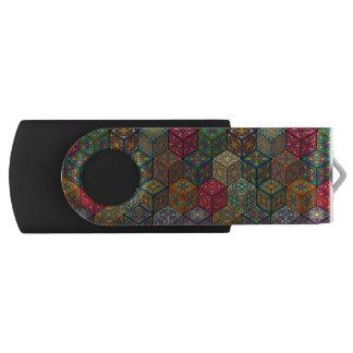 Clé USB Patchwork vintage avec les éléments floraux de