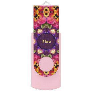 Clé USB Pensée TINA~ ~Personalised par motif de PÂQUES