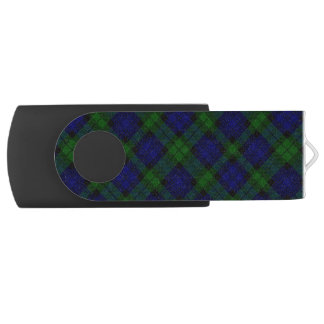 Clé USB Plaid noir de vert bleu de tartan de clan de